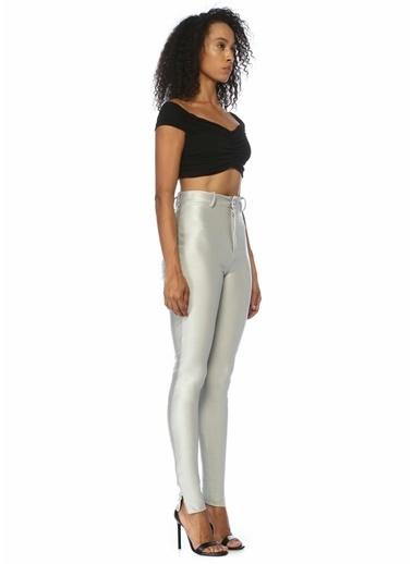 Attico Pantolon Gümüş